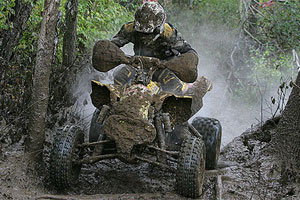 Chris Bithell gets muddy during his win at Unadilla in 2008.