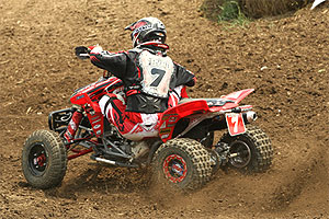 Byrd finished second to WImmer in both motos.