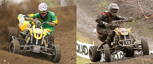 Jeremy Lawson (left) and John Natalie (right) each picked up a moto win on a Can-Am DS450.