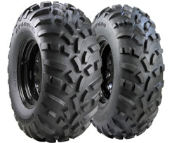 489 tires are Carlisle's most popular. The 489 XL (pictured) offers a similar footprint and aggressive tread pattern, but comes in a durable 6-ply design. Prices start from about $60 per tire.