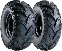 Mud Wolf tires, as the name suggests, are designed to perform in the mud. They feature an overlapping cut-out V tread pattern and a 6-ply carcass. Prices start from about $75 per tire.
