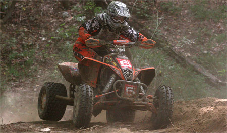 Bryan Cook earned the holeshot award and finished fourth in the XC1 class.