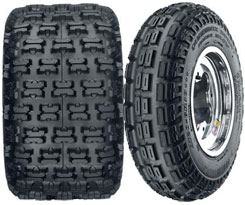 Quadmax Sport front and rear tires feature radial construction to allow all four tires to function together. A double-center rib design on the front tires provides solid traction, while the rear tires has an asymmetric tread design for maximum side and forward traction. Prices start from about $63.
