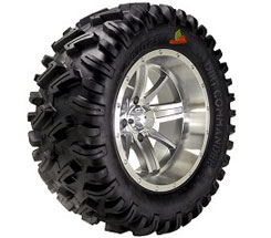 An aggressive all-terrain trail ATV tire, the Dirt Commander is built using tough 8-ply construction and offers excellent puncture resistance. The tire features a siped thread design to provide additional biting edges for better traction. Prices start from about $92.