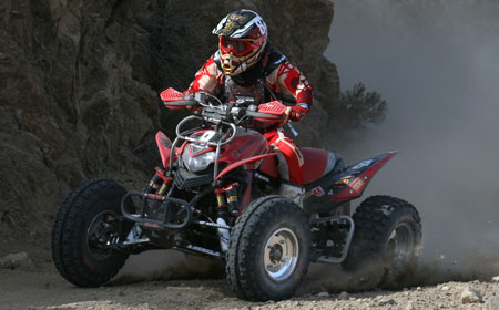 Harold Goodman kicks up some dirt at the Baja 1000.