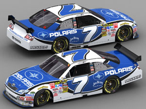 Robby Gordon's Polaris-sponsored Sprint Cup Series car.