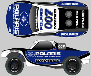 Polaris will be the primary sponsor of Gordon's TORC Chevy Silverado.
