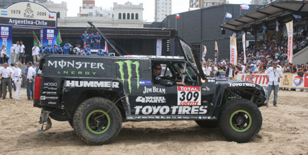 Gordon piloted this Hummer at the grueling 2009 Dakar in South America.