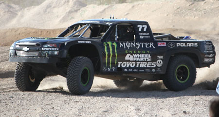 Gordon rode this Polaris-sponsored trophy truck at the Baja 1000.