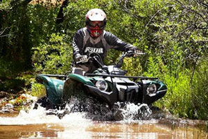 Somebody will win a brand new 2009 Yamaha Grizzly 550 FI EPS.