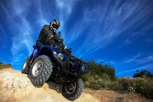 This Grizzly 550 FI is the same type of ATV Yamaha will be giving away in the sweepstakes.
