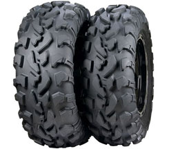 ITP calls the new BajaCross its most rugged tire ever. It has been designed to handle the toughest and heaviest UTV applications, but it can also work for utility ATVs. An 8-ply rating, extended-life rubber compound and overlapping tread pattern make this the highest mileage tire ITP has ever produced without sacrificing trail comfort. Prices start from about $108.