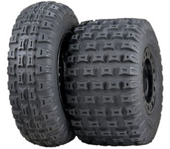 Introduced in April of 2009, ITP says the QuadCross MX Pro Lite is the next big step in race tire technology. The motocross-specific tire features a 2-ply carcass and utilizes a sidewall apex design that stiffens the sidewall during side loads. The front tire is one pound lighter the rear two pounds lighter than the QuadCross MX Pro. Prices start from about $77.
