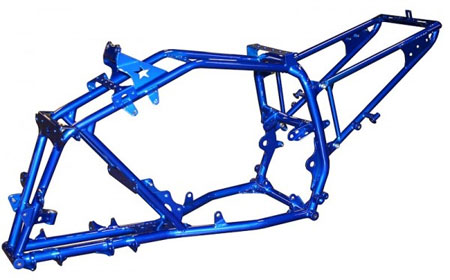 The Lonestar Racing Raptor 250 chassis is designed to hold up to the toughest conditions.