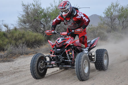 Wayne Matlock pilots his TRX700XX at the Baja 500.