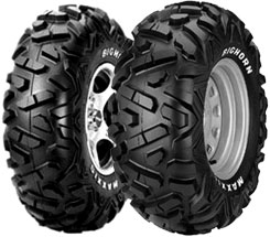 Maxxis Bighorn tires feature a wide footprint and a tread pattern designed to provide exceptional traction. It's a very versatile tire that can be found stock on several ATVs and UTVs (like the Polaris Ranger RZRS) and is also used in 4x4 ATV racing. Prices start from about $100.