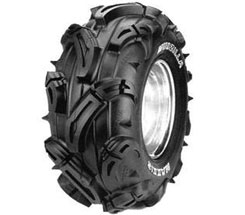 Maxxis calls the MudZilla the ultimate ATV mud tire. Designed specifically for riding in the mud and muck, this 8-ply tire features an aggressive look with massive pyramid-shaped tread blocks for maximum traction. The tire also offers a rim guard for wheel protection. Prices start from about $110.