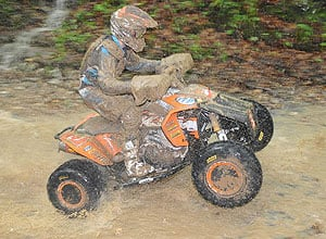 Adam McGill sits second in the GNCC points race.