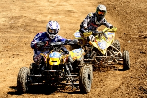 Creamer and Natalie do battle in the second moto.