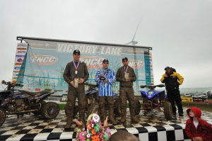 Yamaha riders Walker Fowler, Gabe Phillips, and Mark Notman own the XC2 podium.