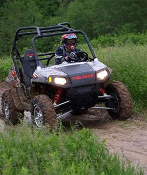 The RZR S was fun to drive in muddy Minnesota, but it was at home in Nevada.