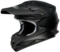 VFX-W Matte Black ($410.99): Shell made with fiberglass and organic fibers that Shoei says can only be cut by a laser; dual layer EPS liner ventilation system; improved air intakes are located in mouthpiece, forehead, and through scoops directing air into EPS liner; five-year warranty.