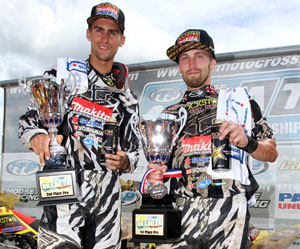 Suzuki riders Dustin Wimmer and Josh Creamer.