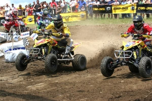 Suzuki's Dustin Wimmer and Doug Gust finished 1-2 in the second moto and overall.