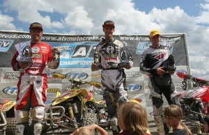 Gust, Wimmer and Josh Upperman on the podium.
