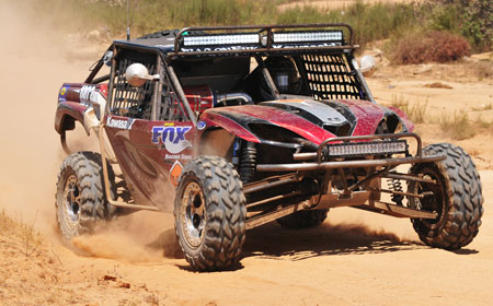 The DragonFire Racing Kawasaki Teryx dominated the Sportsman UTV class at Baja. (Photo by DesertRacePhotos.com)