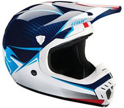 Youth Quadrant ($99.95): Polycarbonate outer shell; extensive venting with intake and exhaust ports; plush removable/washable liner; molded roost guard. DOT approved.