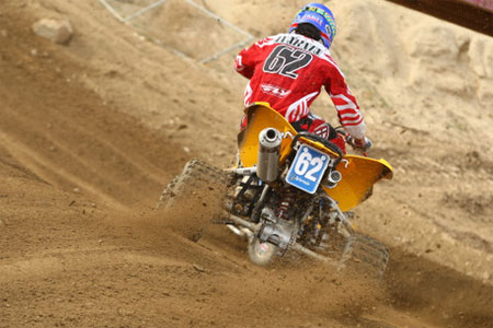 Jeremie Warnia races to victory on his Can-Am DS 450.