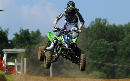 Chad Wienen is having a breakout season is leading Kawasaki to it's best season aboard the KFX450R.