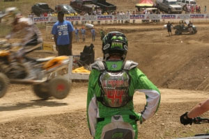 A crash in the first moto left Chad Wienen on the outside looking in.