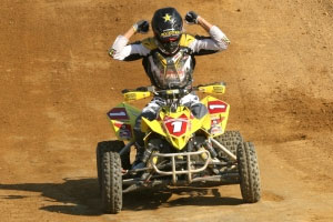 Dustin Wimmer ripped it up at Spring National Raceway. (Photo by Stephani McIntyre - www.atvmotocross.com)
