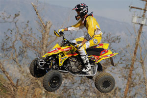 Dustin Wimmer rides his QuadRacer LT-R450 to victory.