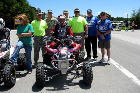 William Yokley before the start of the Showshoe GNCC.