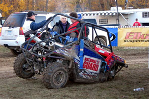 All does not appear well with Yokley's Polaris Ranger RZR.