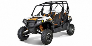 2012 Polaris Ranger® RZR® 4 800 EPS Robbie Gordon Edition White / Orange Madness LE